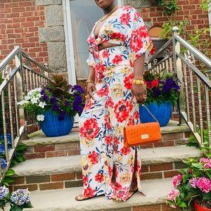 Floral pants set